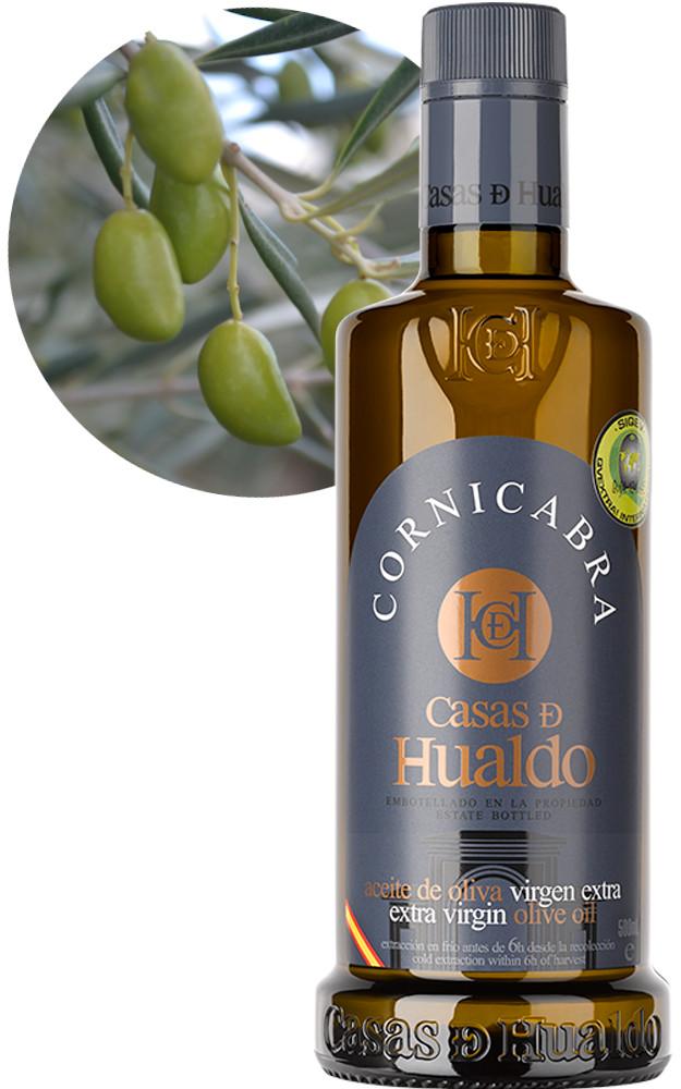 Botella AOVE Cornicabra Casas de Hualdo 625x1000