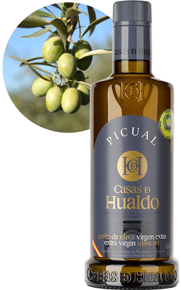 Botella AOVE Picual Casas de Hualdo 625x1000