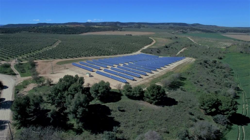 Solar panels in the Hualdo Estate